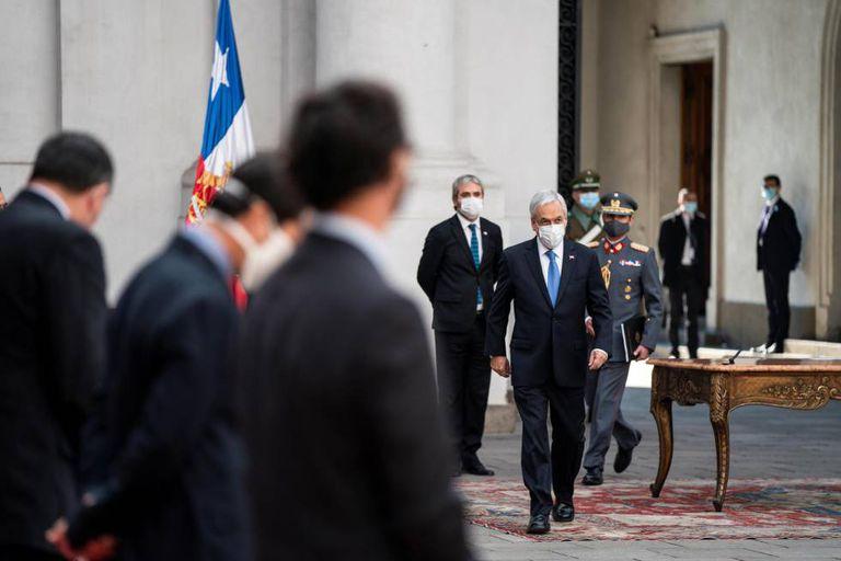 El presidente de Chile, Sebastián Piñera, en el palacio de Gobierno en junio pasado.