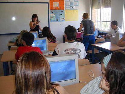 Una clase en el instituto público Averroes, de Córdoba.