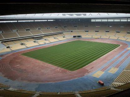 Panorámica del estadio de La Cartuja.