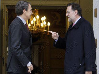 Zapatero y Rajoy se reunieron por última vez en diciembre de 2011.