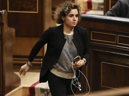 La ministra de Sanidad, Dolors Montserrat hoy en el Congreso de los Diputados.