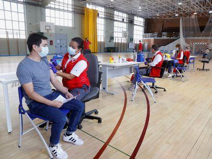 Vacunación de universitarios en Madrid.