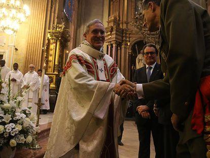 Artur Mas durante la misa