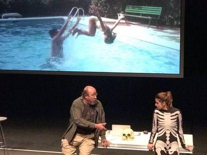Pep Cruz y Alba Pujol, en la representación de la obra dirigida por Àlex Rigola en el Temporada Alta.