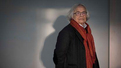 El poeta sirio Adonis, en una entrevista en Madrid en enero de 2019.