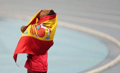 Orlando Ortega, tras ganar la plata en Río.