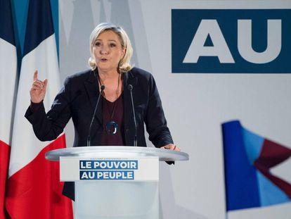 Marine Le Pen, este sábado en Le Thor, cerca de Aviñón.