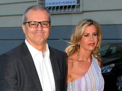 Ramón García y Patricia Cerezo a su llegada a un concierto en Madrid, en julio de 2018.