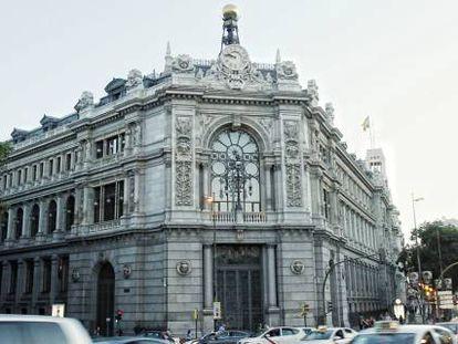 La sede del Banco de España, en la madrileña plaza de Cibeles.