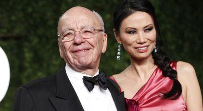 Rupert Murdoch y Wendi Deng en la época en la que estuvieron casados.