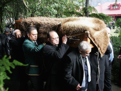 Un momento del funeral por la reina Te Atairangikaahu, en agosto de 2006.