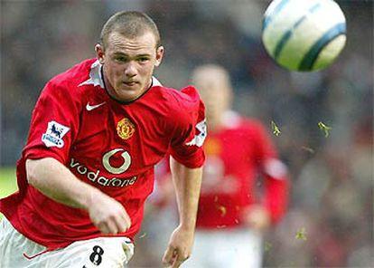 Rooney, en el partido que su equipo, el Manchester United, empató ayer con el Middlesbrough.