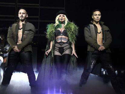 Britney Spears en un concierto durante su gira de verano 'Piece of me' en Maryland, Estados Unidos, el pasado 12 de julio.