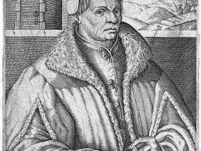 Retrato de Thomas Müntzer, de Christoph Van Sichem.