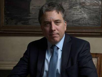 El ministro de Hacienda de Argentina, Nicolás Dujovne, el jueves en la residencia del embajador en Madrid.