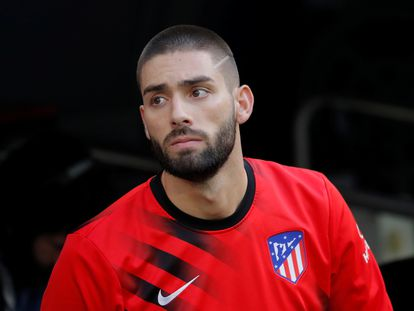 Carrasco, con el Atlético.