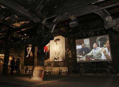La cámara frigorífica del matadero de Madrid, hoy el espacio para exposiciones.