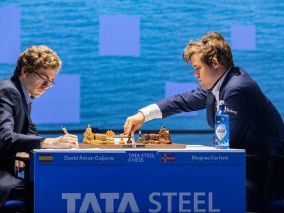Primeros movimientos de la partida Antón-Carlsen, hoy en Wijk aan Zee