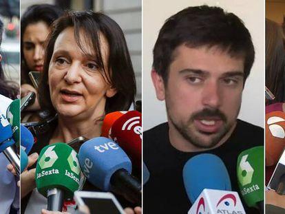 De izquierda a derecha: Errejón, Bescansa, Espinar y Ruiz-Huerta.