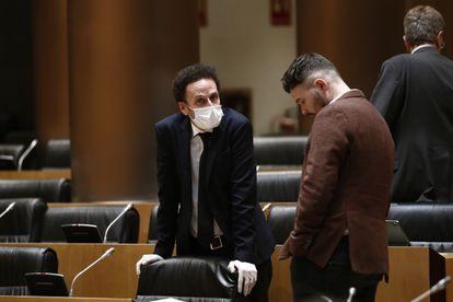 El diputado de Ciudadanos, Edmundo Bal (izquierda), y el de ERC, Gabriel Rufián, en una imagen de archivo.