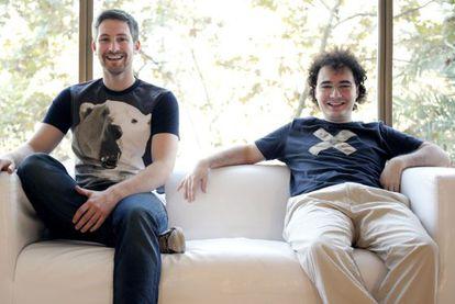 David Martínez y Jordi Tamargo, cofundadores de Burn Media SL, la empresa propietaria de SeriesYonkis.