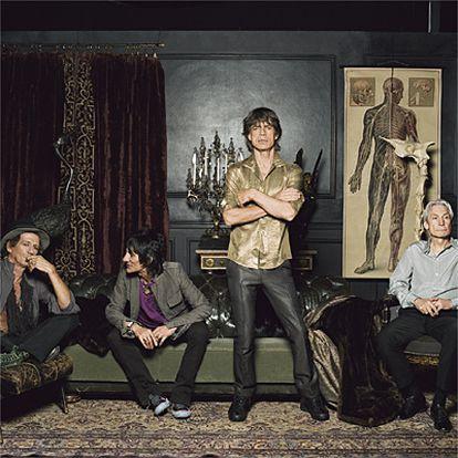 De izquierda a derecha, Keith Richards, Ronnie Wood, Mick Jagger y Charlie Watts.