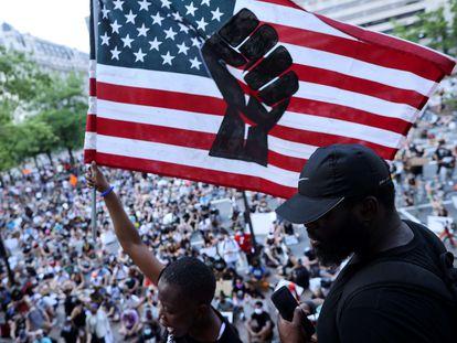 Una protesta en Washington por la violencia en contra de los afroamericanos.