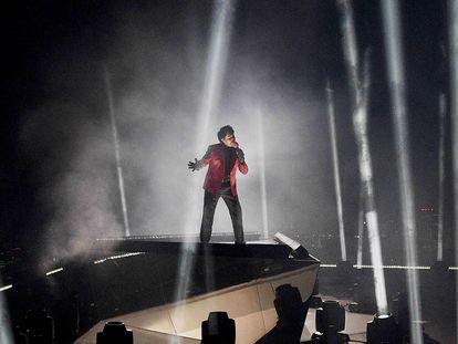 The Weeknd, en una actuación en los premios MTV Video Music Awards, en agosto de 2020 en Nueva York.