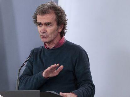 Fernando Simón, el 14 de abril durante la rueda de prensa del Comité Técnico de Gestión por la crisis del coronavirus.