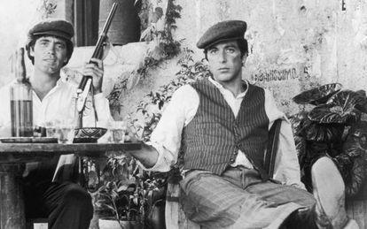 Franco Citti y Al Pacino en 'El Padrino II'.