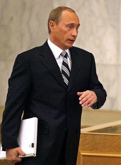 El presidente Putin, hoy en el Kremlin.