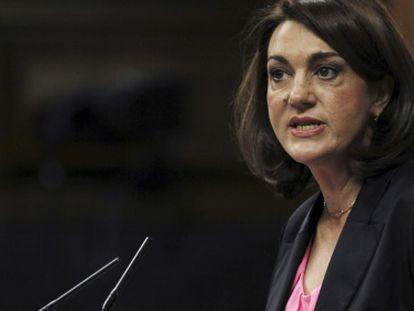 Soraya Rodríguez, este miércoles en el Congreso.