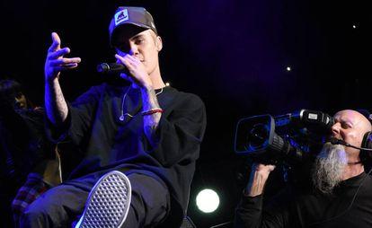 Justin Bieber durante su actuación en un festival en Atlanta (Georgia, EE UU) en 2015.