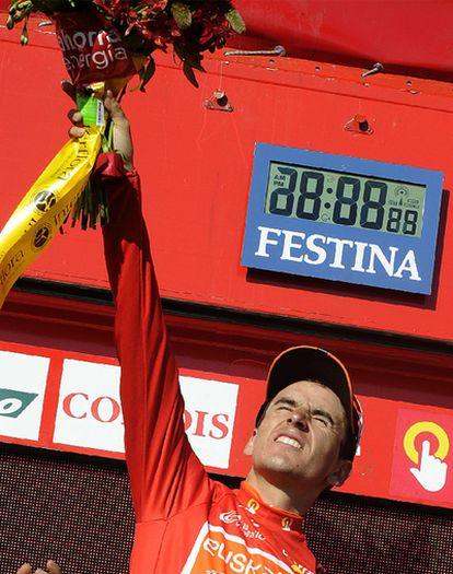 Igor Anton celebra el liderato