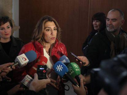 La secretaria general del PSOE andaluz, Susana Díaz, el pasado 20 de enero.