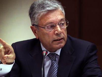 Modesto Crespo, expresidente de la CAM, en 2019 en su comparecencia en la comisión de investigación.