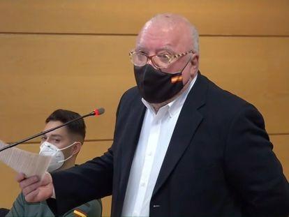 El comisario jubilado José Manuel Villarejo, en el juicio celebrado el pasado viernes contra él por calumnias y denuncia falsa.