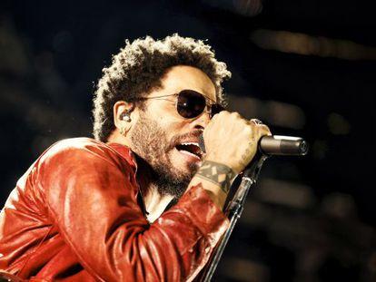 Lenny Kravitz, en su reciente concierto en Madrid.