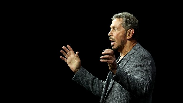 El presidente y fundador de Oracle, Larry Ellison, el 22 de octubre de 2018 en San Francisco, California.
