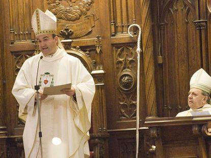 El obispo de San Sebastián, José Ignacio Munilla, pronuncia una homilia.