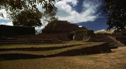Las ruinas de Tazumal, en la zona arqueológica de Chalchuapa, en El Salvador.