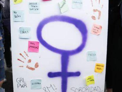 Manifestación feminista en Madrid, el pasado 8 de marzo.