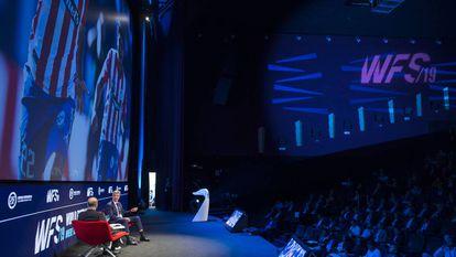 Un debate del World Football Summit, en 2019.