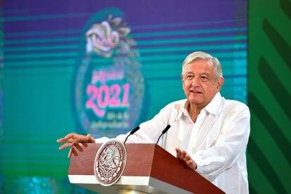 El presidente Andrés Manuel López Obrador, en Veracruz el 26 de julio.