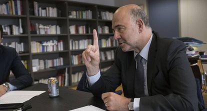 Pierre Moscovici, durante la entrevista.