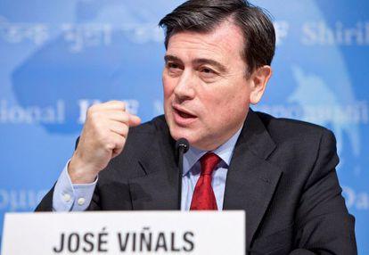 José Viñals, en la comparecencia de ayer en Washington