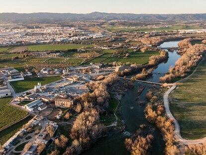 Zona donde posiblemente estuvo Medina Al Zahira, a la izquierda del río Guadalquivir.