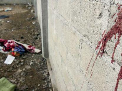 Rastro de sangre en el lugar del 'caso Tlatlaya'.