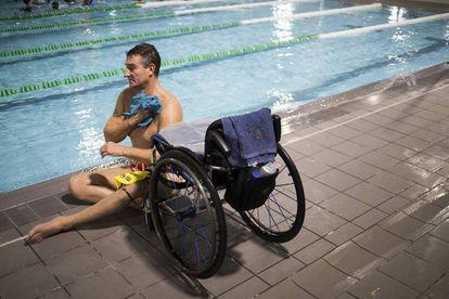 Chano Rodríguez es el máximo medallista de oros de la natación paralímpica española.Cada día, entrena en las instalaciones de Máis que Auga, en Vigo.