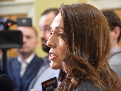 Jacinda Ardern durante la rueda de prensa para anunciar su Gobierno este martes.
